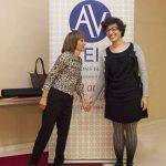 Vicenta LLorca coordinadora de l'Homenatge a la Paraula amb Maite Fernández del Consell Executiu