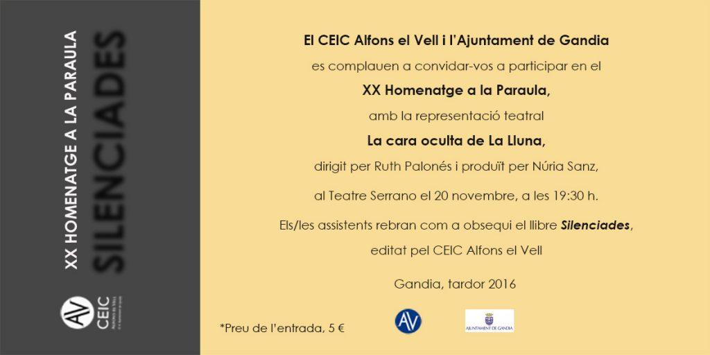Tarja Homenatge a la Paraula 2016