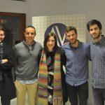 Els participants en aquesta I Jornada amb la presentadora de l'acte Anna Igualde