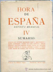 """Revista """"Hora de España"""""""