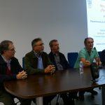 Presentació de la Setmana a carrec d'Enric Marco i  Joaquin Grau, membres del CEIC i coordinadors de la Setmana, Josep Angel Mas de la UPV, el Director del CEIC Lluís Miret i Emili Aura de la UV
