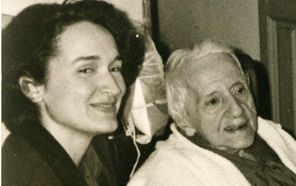 Rosa Mascarell amb Maria Zambrano