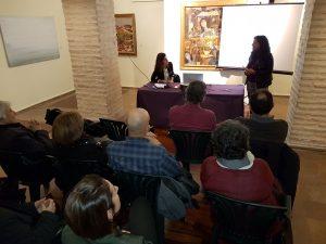 Mar Beltran. historiadora de l'Art i consellera del Ceic, va fer la presentació de Lydia Frasquet.