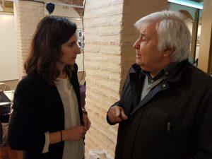 "L'arquitecte  Alberto Peñín, que va ser col·laborador de la revista ""Cimal"", conversa amb Lydia Frasquet."