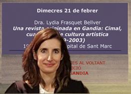 CONFERÈNCIA DE LYDIA FRASQUET