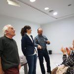 Ximo V. Ruth Palonés i Pep Gonga despres de la seua intervenció teatral.