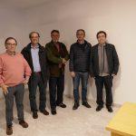 Els organitzadors de la Setmana amb el conferenciant Fernando Barbero, Investigador científic  CSIC