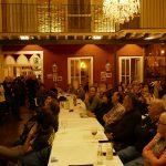 """Bar de ciències al Restaurant Visconti. J.M. Mulet. Dr. en química, va parlar d'un tema que sempre desperta l'interès del públic: """"Qué és menjar sa?: Els dubtes, mites i enganys més extesos sobre l'alimentació""""."""