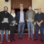 Els regidors Nahuel González, Liduvina Gil,  José Manuel Prieto i Joan Muñoz. En mig el director del CEIC, Lluís Miret.