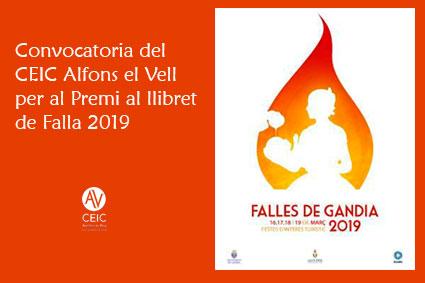 CONVOCATORIA DEL PREMI CEIC ALFONS EL VELL 2019 AL LLIBRET DE FALLA.