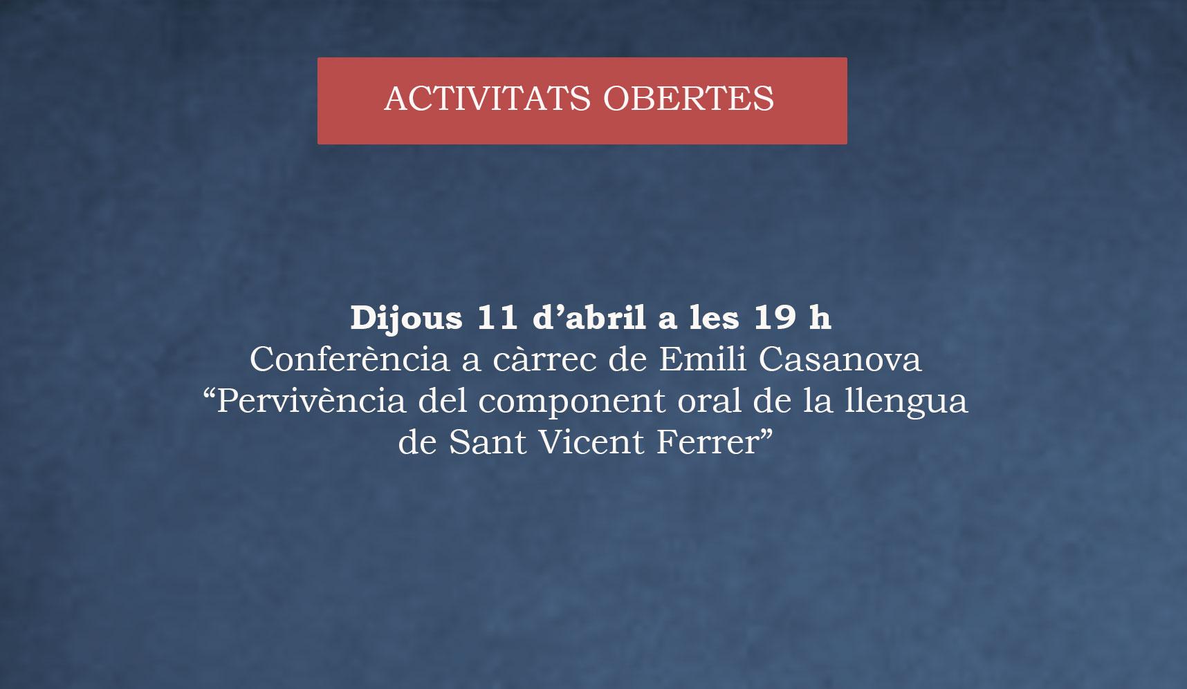 4a Conferència SAFOR DE LLETRES