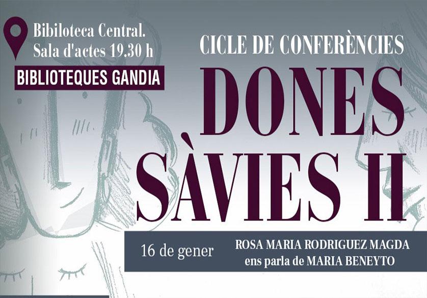 4a CONFERENCIA «DONES SÀVIES II»