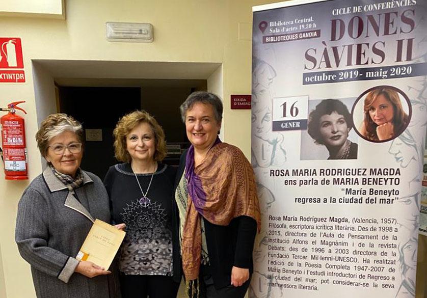 ROSA MARÍA RODRÍGUEZ MAGDA ens parla DE MARIA BENEYTO. CONFERÈNCIA «DONES SÀVIES II»